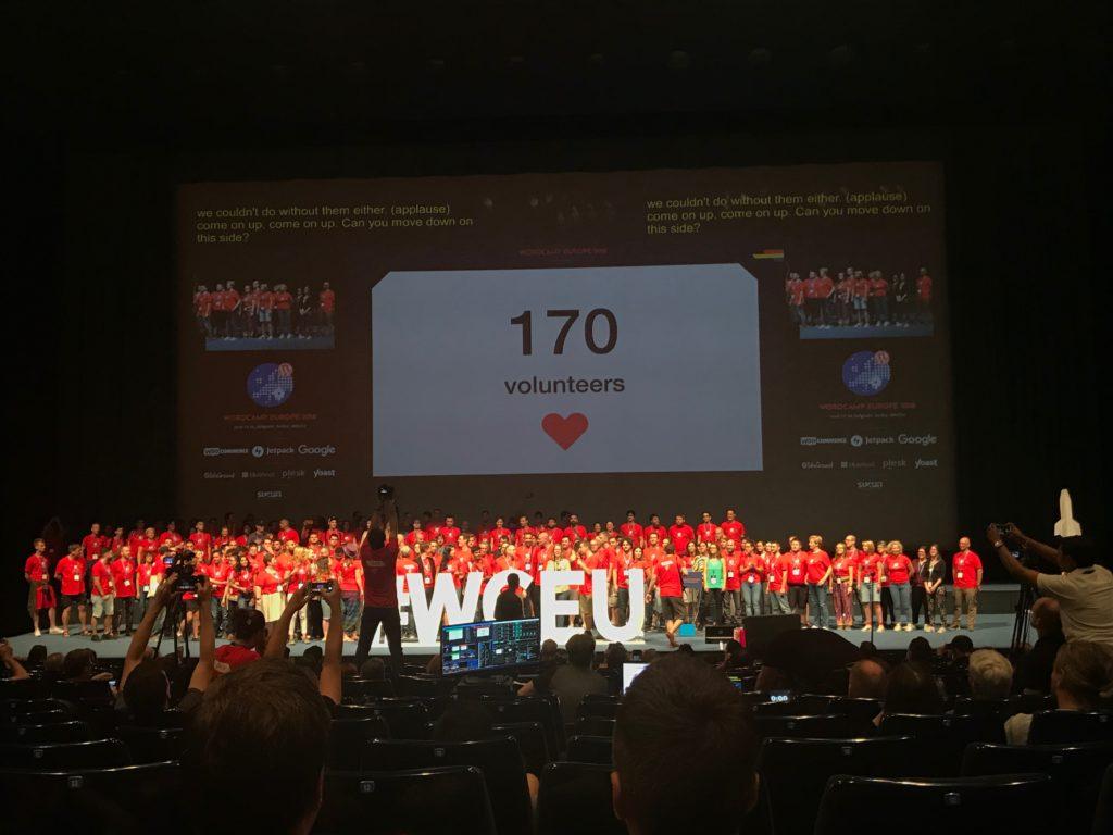 170 vrijwilligers op WordCamp Europe 2018