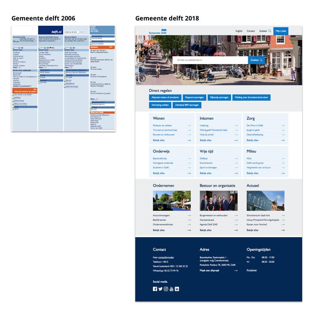 afbeelding Gemeente Delft redesign