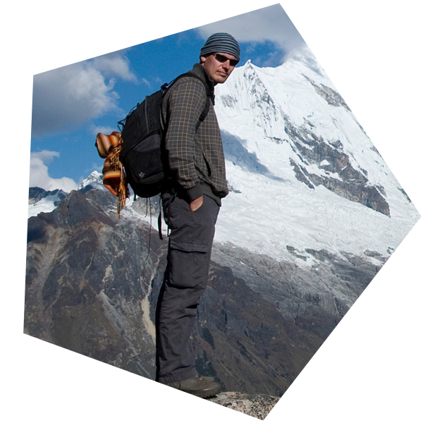 Foto van Marco op een berg