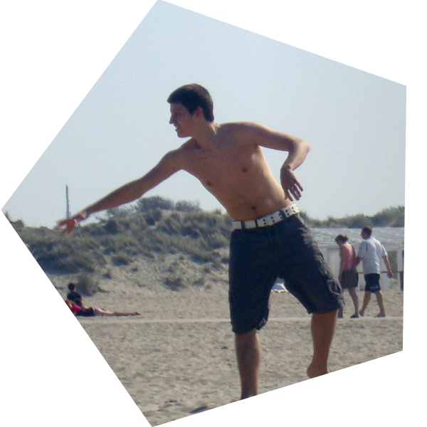 Foto van Niels op het strand
