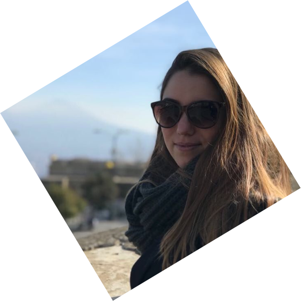 Foto van Andrée met zonnebril op