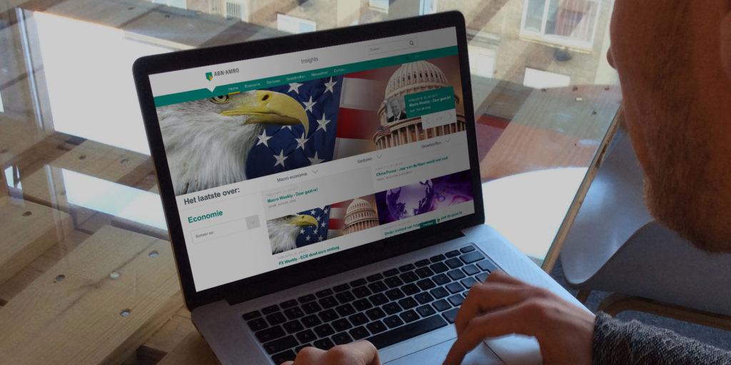 Screenshot ABN AMRO Insights op laptop