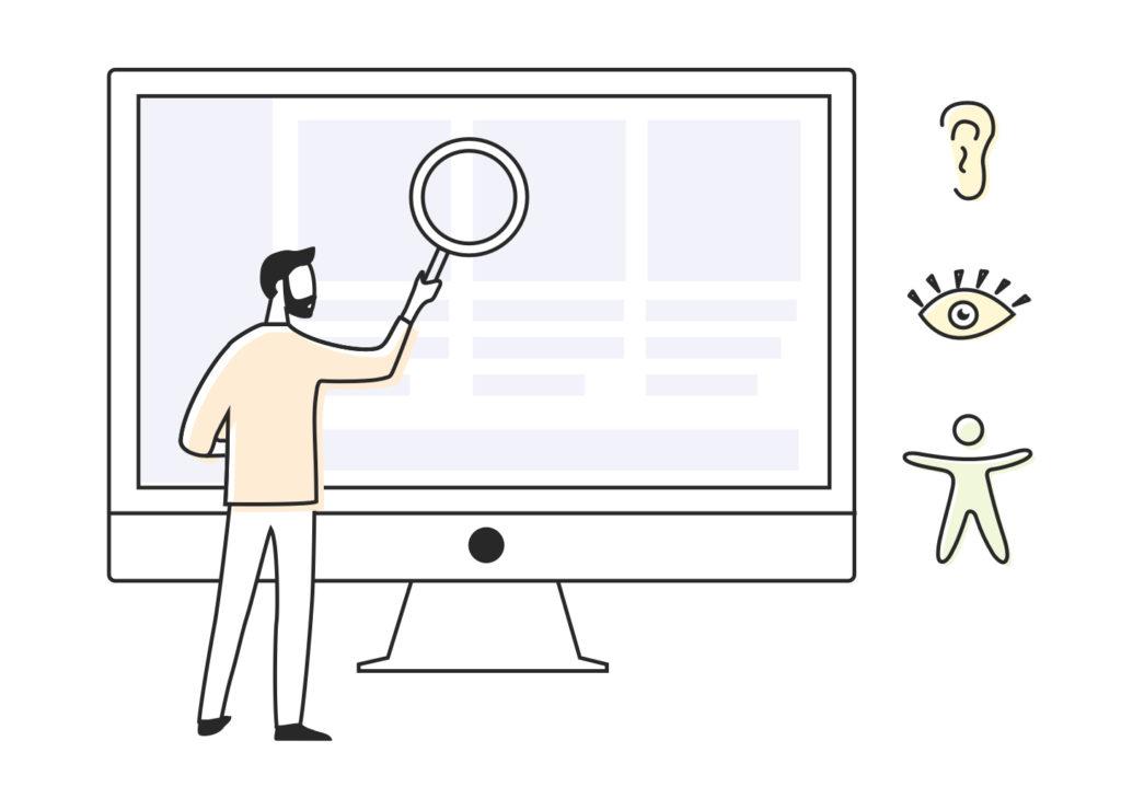 Illustratie webtoeganklijkheidsonderzoek