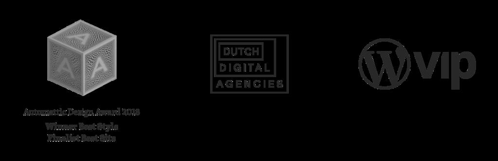 Logo's Automattic Awards, Dutch Digital Agencies en WordPress VIP