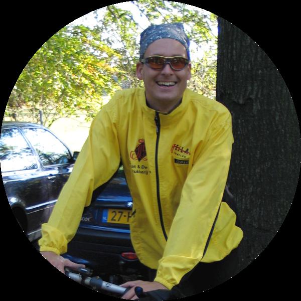 Photo of Bernard on a bike