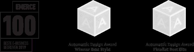 Emerce100 Best E-Business Companies 2019, Automattic Design Awards Winner Best Style & Finalist Best Site