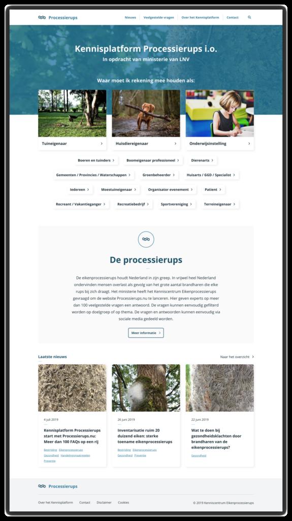 Processierups homepage