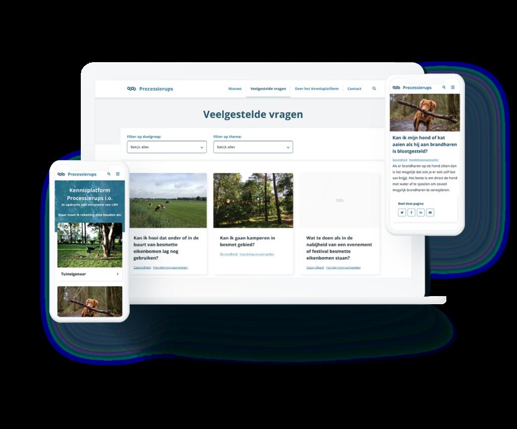 Processierups responsive website