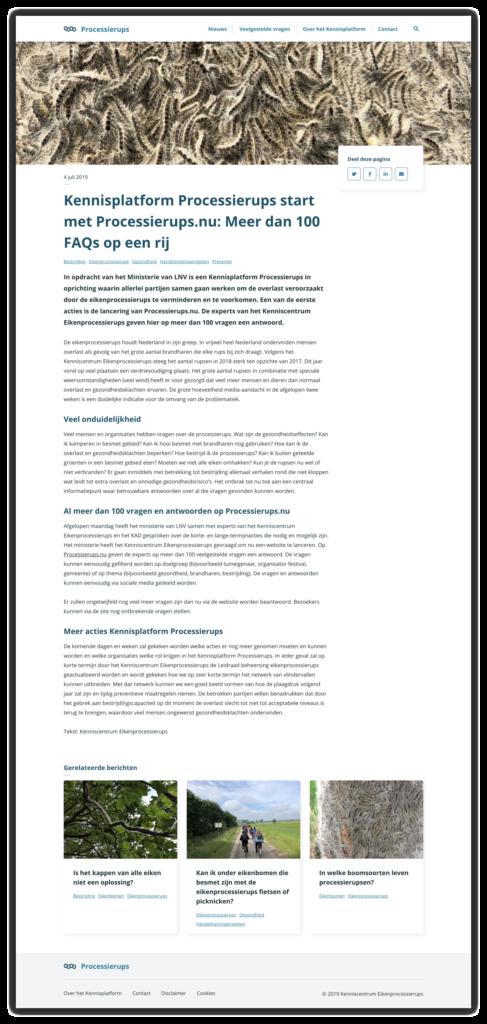 Processierups.nu screenshot with article