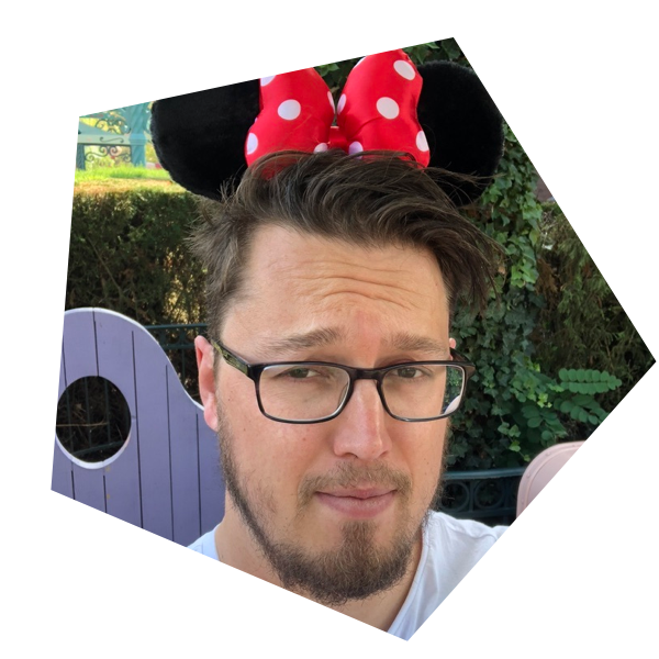 Coen with his Mini Mouse ears in DisneyLand.