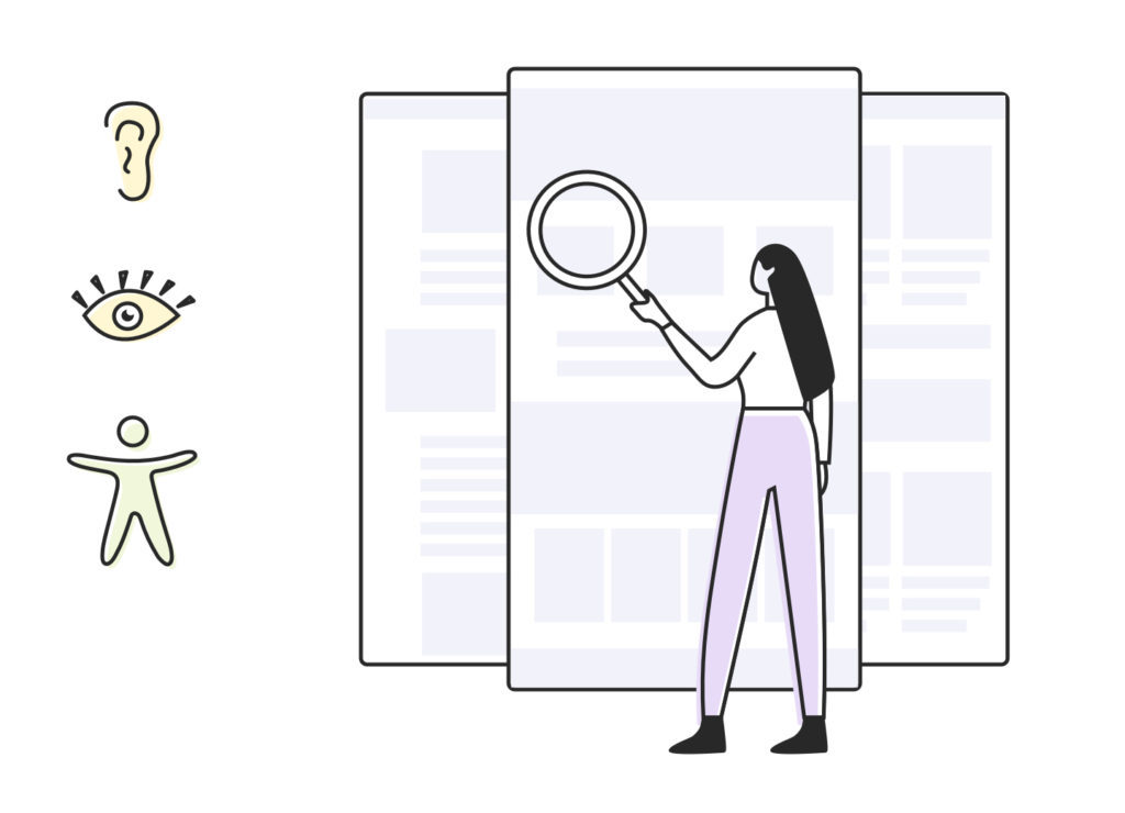 Illustration review web accessibility